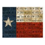 Bandera del arte solitario de la placa del estado  tarjetas postales