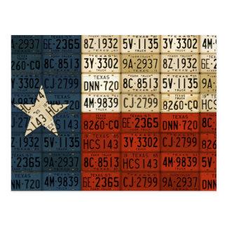 Bandera del arte solitario de la placa del estado postal
