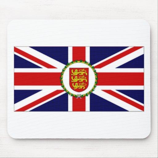Bandera del asistente del gobernador del jersey alfombrilla de ratones