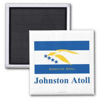 Bandera del atolón de Johnston con nombre Imanes Para Frigoríficos