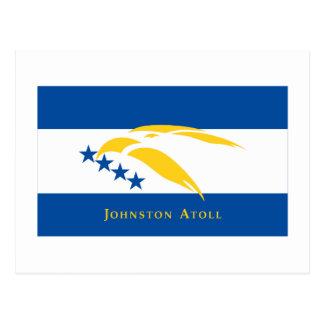Bandera del atolón de Johnston Tarjeta Postal