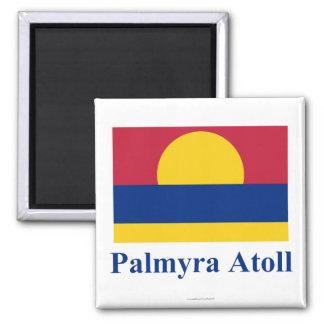 Bandera del atolón de Palmyra con nombre Iman