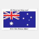 Bandera del australiano de Jokey Rectangular Pegatinas