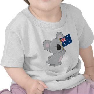 Bandera del australiano de la koala camiseta