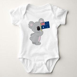 Bandera del australiano de la koala camisetas
