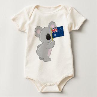 Bandera del australiano de la koala mamelucos