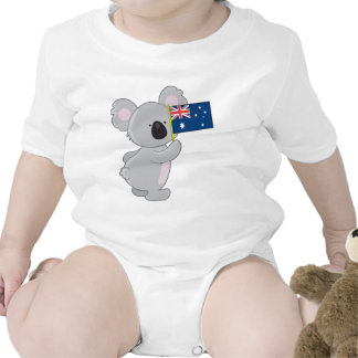 Bandera del australiano de la koala traje de bebé