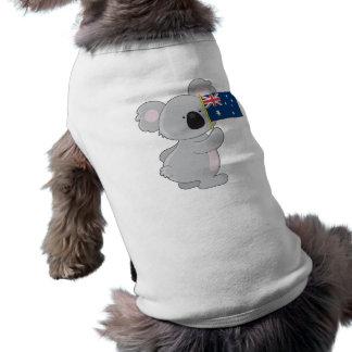 Bandera del australiano de la koala playera sin mangas para perro