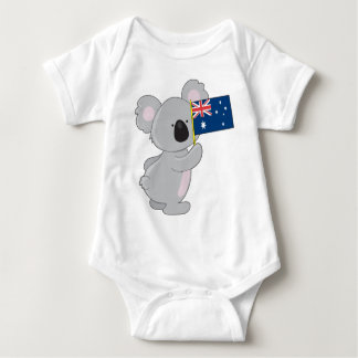 Bandera del australiano de la koala playeras