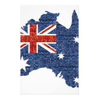 bandera del australiano de la lentejuela  papeleria de diseño