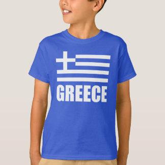 Bandera del azul blanco del texto de Grecia Playera