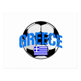 Bandera del balón de fútbol de Grecia de los Postal