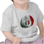 Bandera del balón de fútbol de Italia Forza Azzurr Camiseta