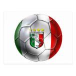 Bandera del balón de fútbol de Italia Forza Azzurr Postales