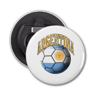 Bandera del balón de fútbol de la Argentina Abrebotellas Redondo