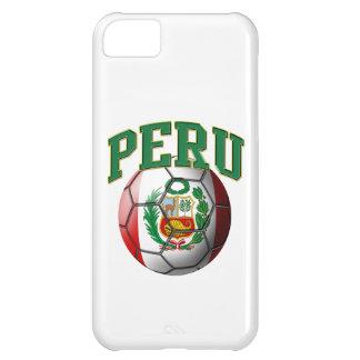 Bandera del balón de fútbol de Perú