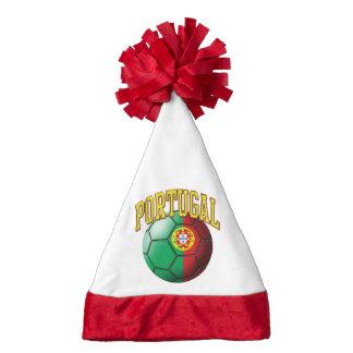 Bandera del balón de fútbol de Portugal Gorro Navideño