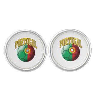 Bandera del balón de fútbol de Portugal Gemelos
