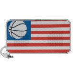 Bandera del baloncesto de los E.E.U.U. Altavoces De Viajar