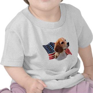 Bandera del beagle camisetas