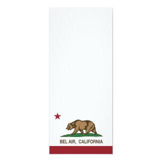 """Bandera del Bel Air de la república de California Invitación 4"""" X 9.25"""""""