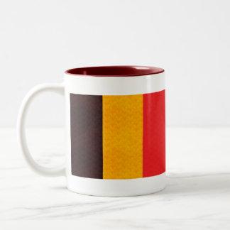 Bandera del belga del modelo del vintage taza de café de dos colores