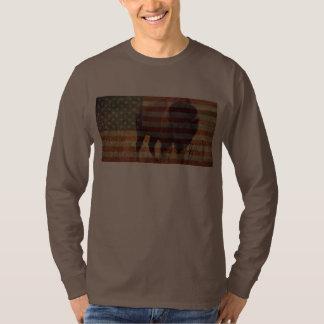 Bandera del bisonte remera