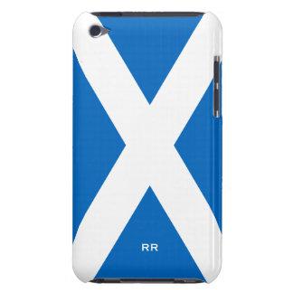 Bandera del blanco de Escocia en el tacto azul 4G iPod Case-Mate Cárcasas