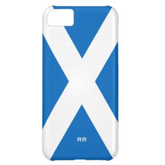 Bandera del blanco de Escocia Saltire en Saint And