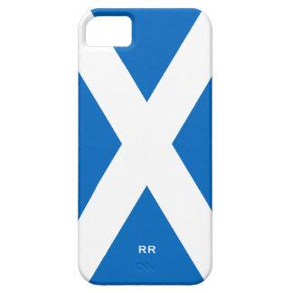 Bandera del blanco de Escocia Saltire en Saint iPhone 5 Case-Mate Coberturas