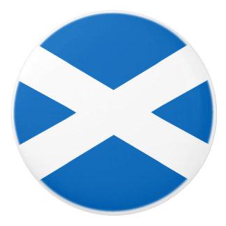 Bandera del botón de cerámica de Escocia Pomo De Cerámica