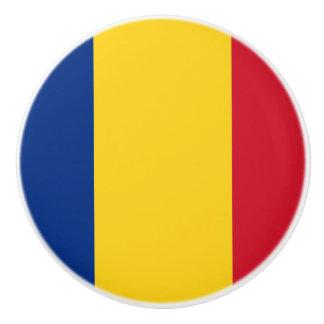 Bandera del botón de cerámica de Rumania Pomo De Cerámica
