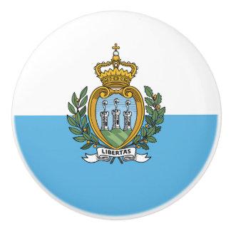 Bandera del botón de cerámica de San Marino Pomo De Cerámica