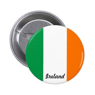 Bandera del botón de Irlanda Pin Redondo De 2 Pulgadas