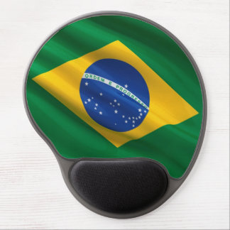Bandera del Brasil Alfombrilla De Raton Con Gel