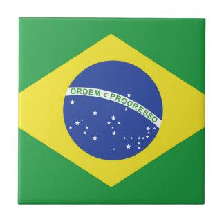 Bandera del Brasil Azulejo Cuadrado Pequeño