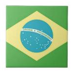 Bandera del Brasil Azulejos