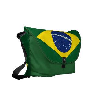 Bandera del Brasil Bolsa De Mensajeria