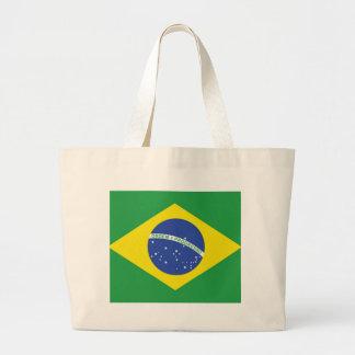 Bandera del Brasil Bolsa Tela Grande