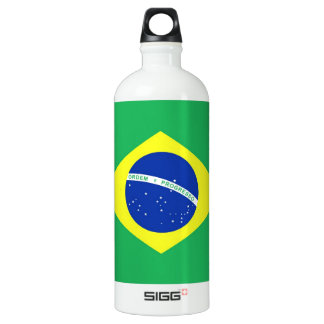 Bandera del Brasil Botella De Agua