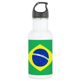 Bandera del Brasil Botella De Agua De Acero Inoxidable