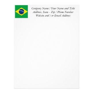 Bandera del Brasil, brasileña Plantillas De Membrete