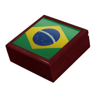 Bandera del Brasil Cajas De Recuerdo