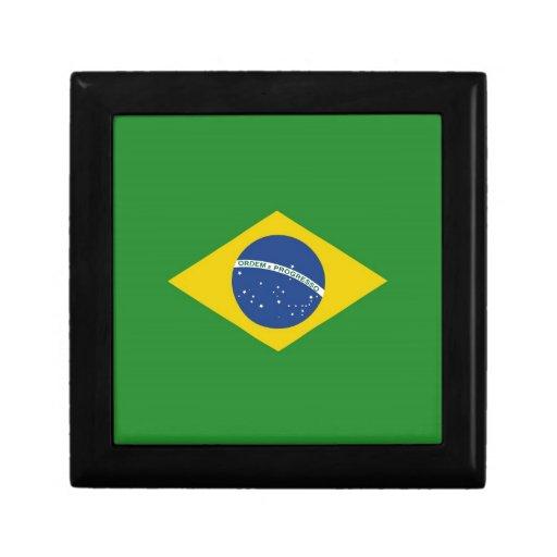 Bandera del Brasil Cajas De Regalo