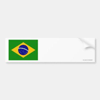 Bandera del Brasil Etiqueta De Parachoque