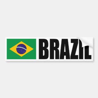Bandera del Brasil Pegatina De Parachoque
