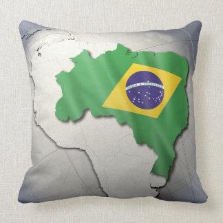Bandera del Brasil Cojin