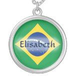 Bandera del Brasil + Collar conocido
