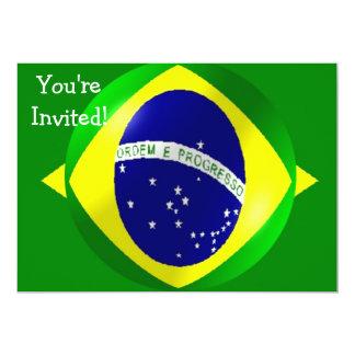 Bandera del Brasil con la invitación de la burbuja