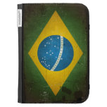 Bandera del Brasil del Grunge del vintage